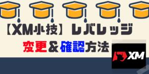 【XM小技】レバレッジ変更方法と確認方法